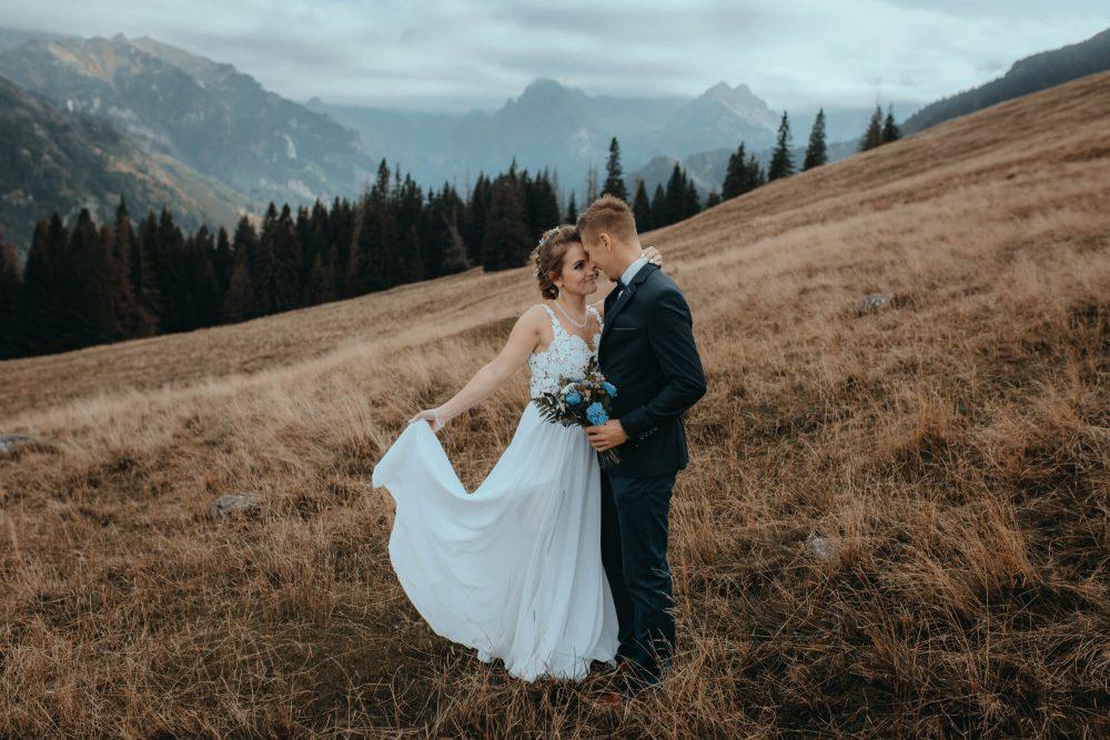 Sesja ślubna na Rusinowej Polanie, uśmiech
