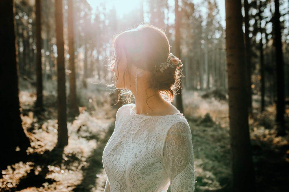 Sesja ślubna, Koniaków, las, Panna Młoda